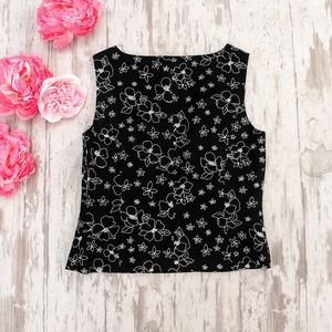 ❤️SALE~Casual Corner Sleeveless Embroidered Top